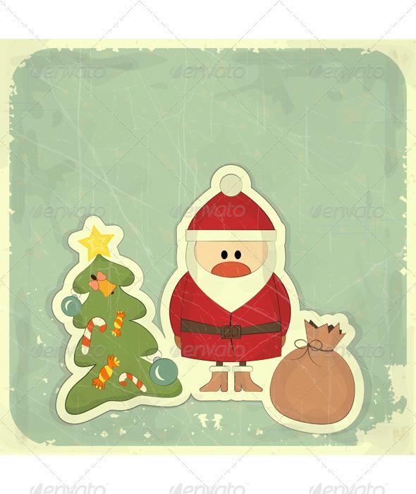 Christmas Cards with Santa, Christmas Tree - Christmas Seasons/Holidays