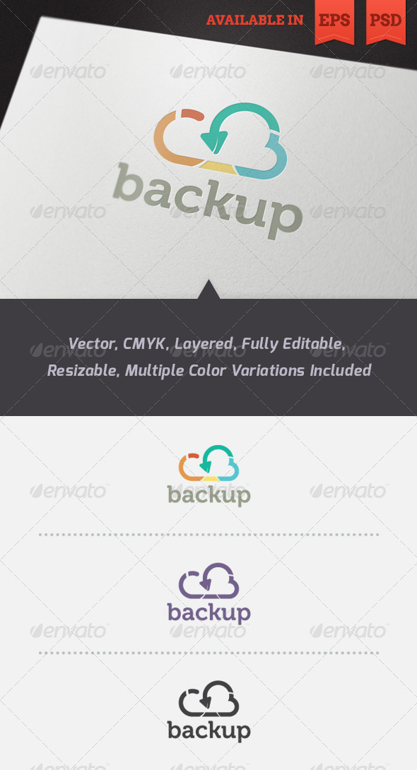 Cloud Backup Logo Template - Abstract Logo Templates