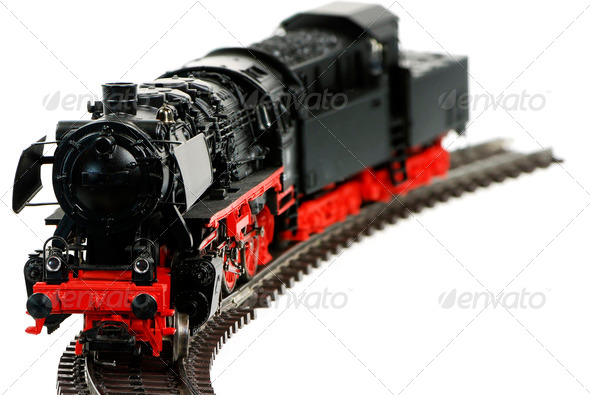 Toy Steam Locomotive - Stock Photo - Images