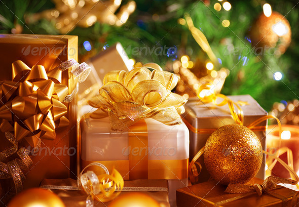 Luxury New Year gifts - Stock Photo - Images