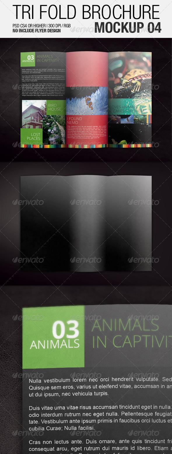 Tri Fold Brochure Mockup 04 - Brochures Print