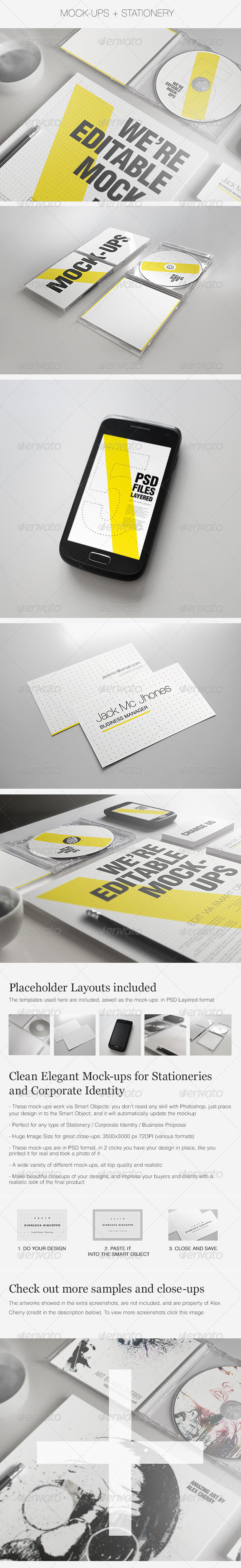 Realistic Stationery Mockups Set 2- Corporate ID - Stationery Print