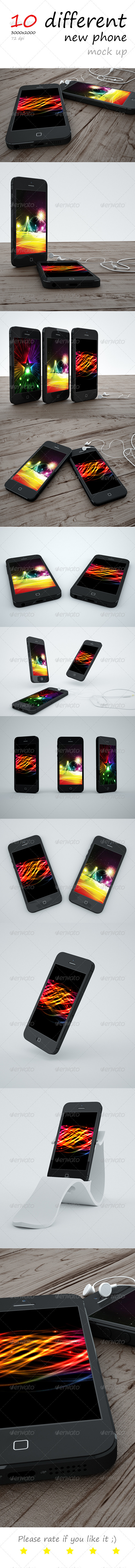 New Phone Mock up - Mobile Displays