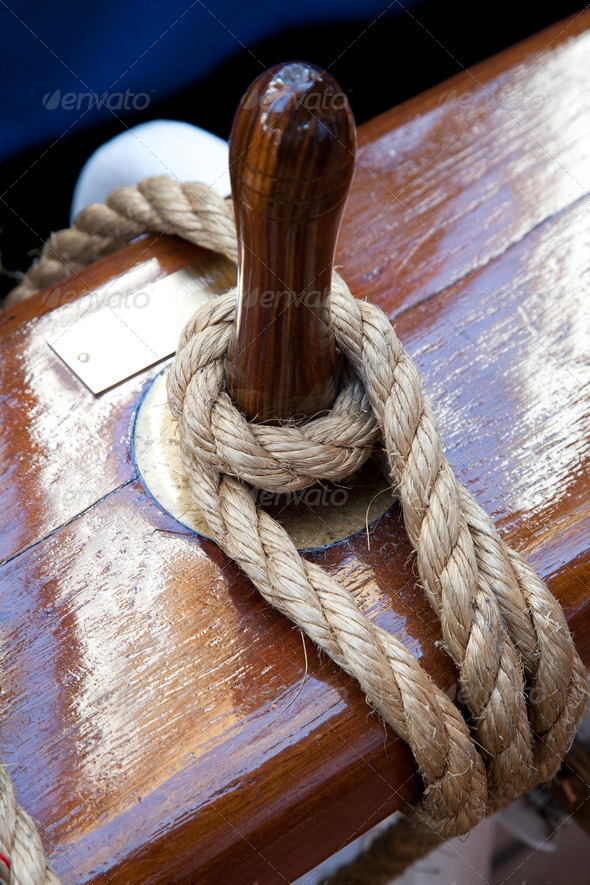 Rope control the sails - Stock Photo - Images