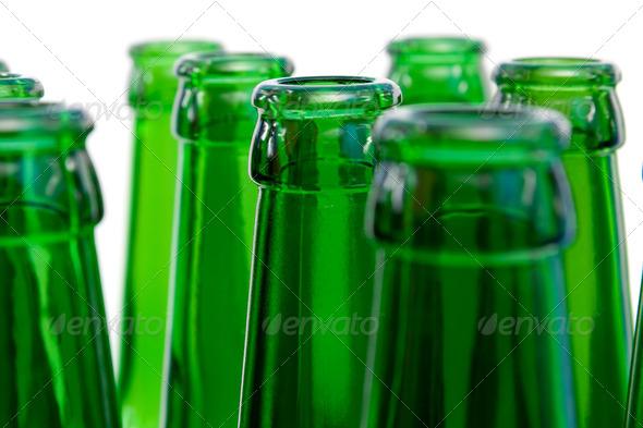Necks  beer bottles - Stock Photo - Images