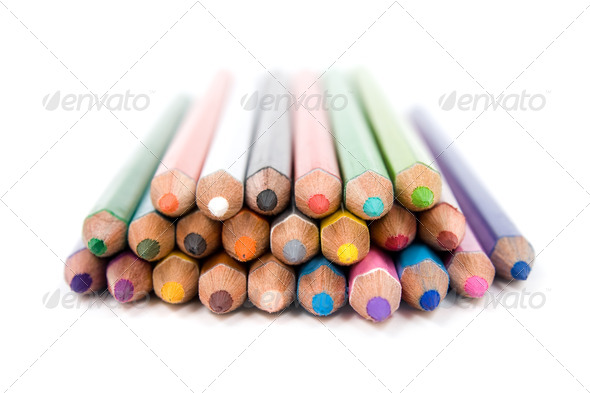 Colored pencils. - Stock Photo - Images