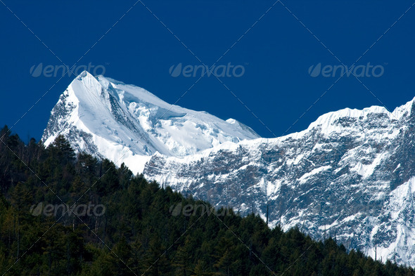 Tibetan mountains - Stock Photo - Images
