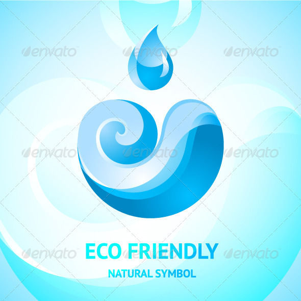 Blue Water Natural Symbol - Nature Conceptual