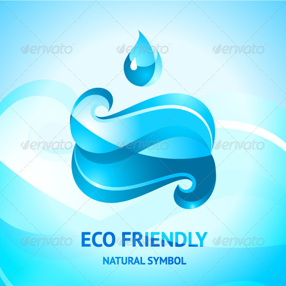 Blue Water Symbol - Nature Conceptual