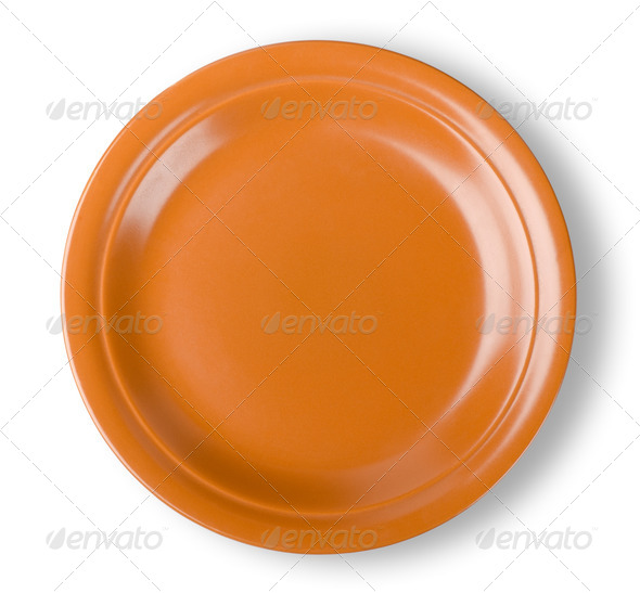 Brown plate - Stock Photo - Images
