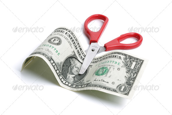 Cutting costs - Stock Photo - Images