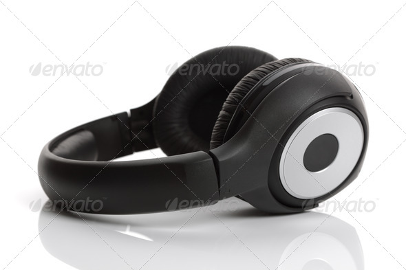 Headphones on a white background - Stock Photo - Images