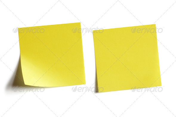 Yellow sticky note - Stock Photo - Images