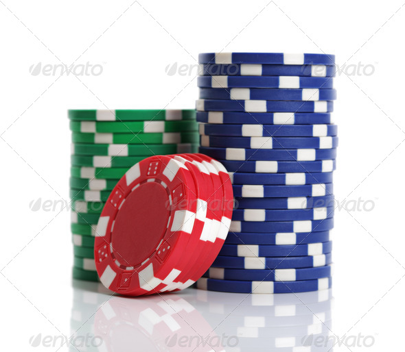 Casino gambling chips - Stock Photo - Images