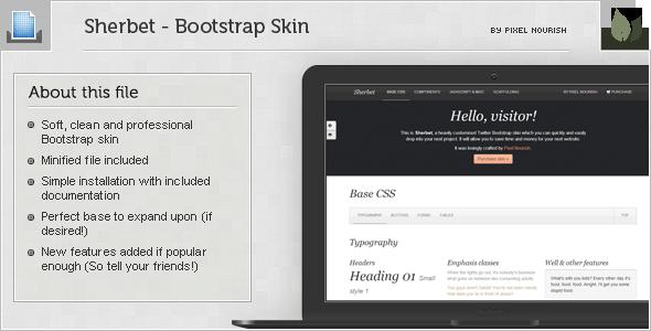 Sherbet - Bootstrap Skin