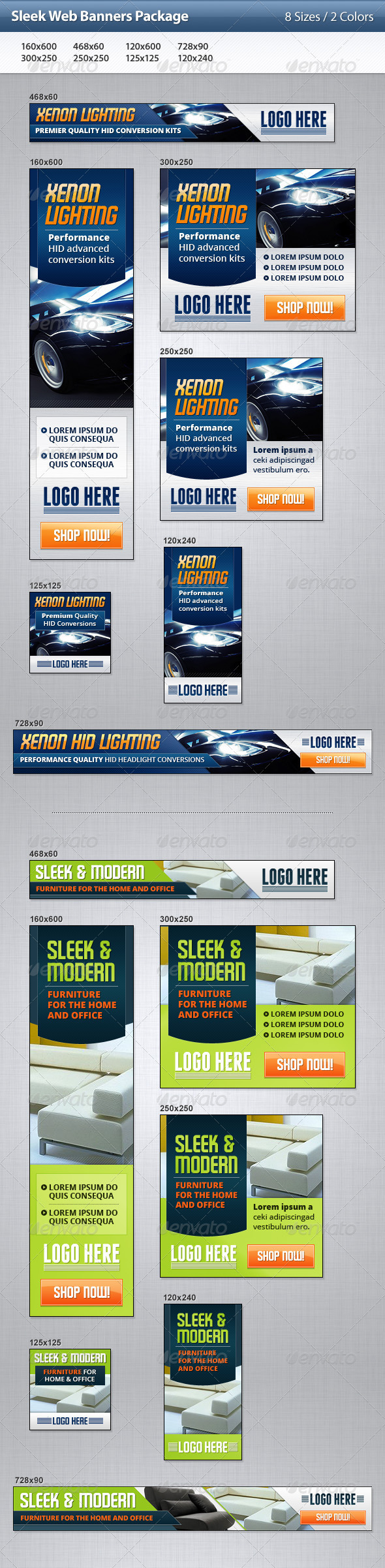 Sleek Web Banners Package - Banners & Ads Web Elements