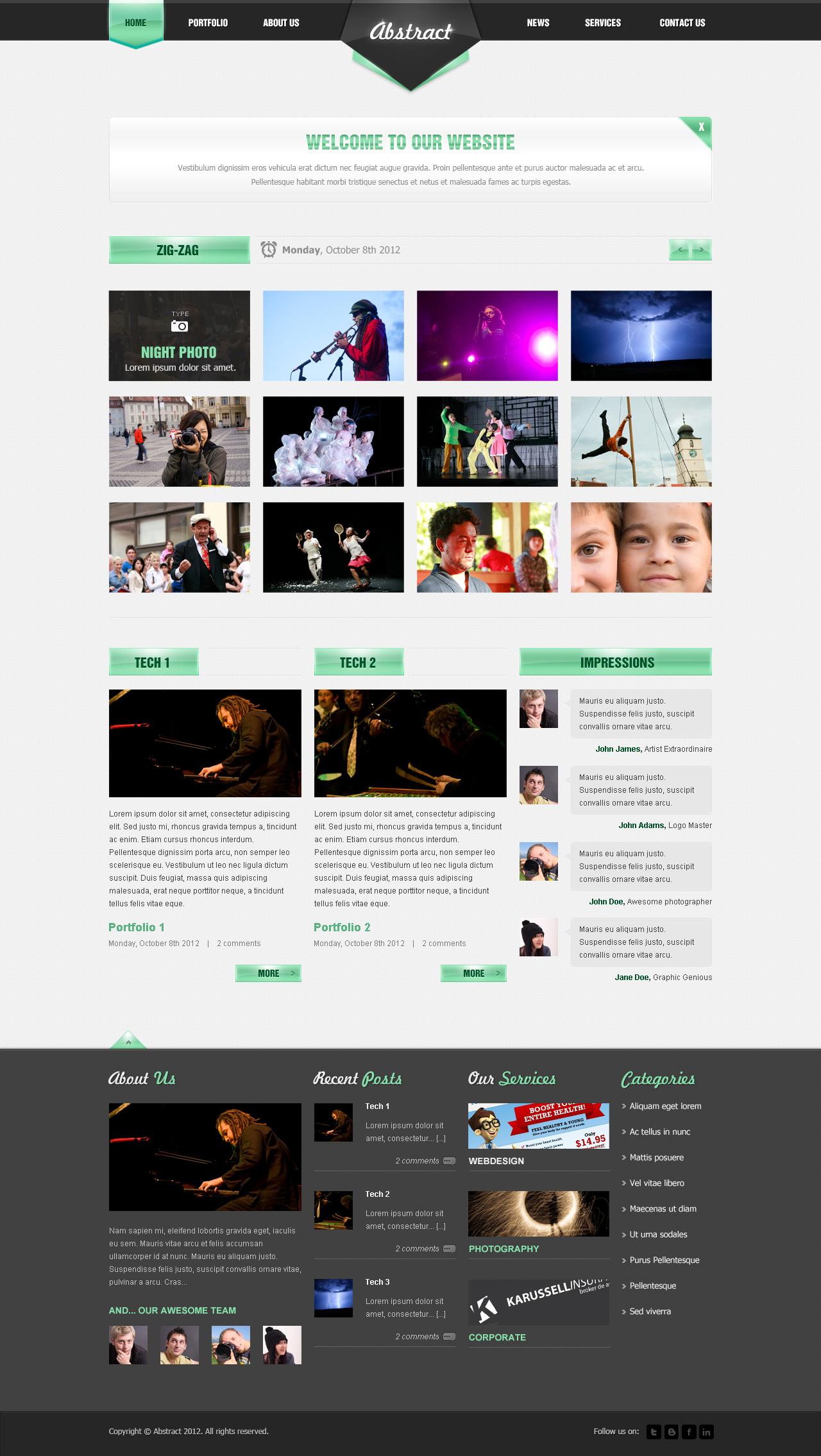 abstract   portfolio design by horizoncreative themeforest