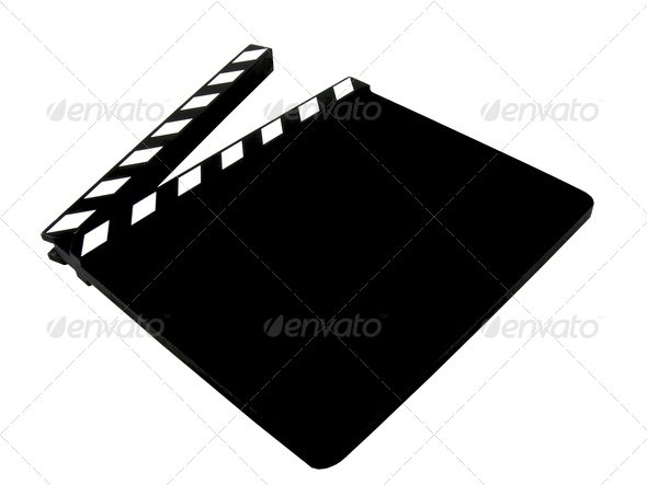 A Blank Movie Clapper Board - Stock Photo - Images