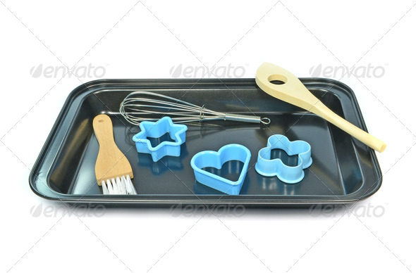 Baking Tray with Utensils - Stock Photo - Images