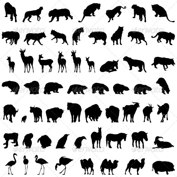 Animal Silhouette Set - Animals Characters