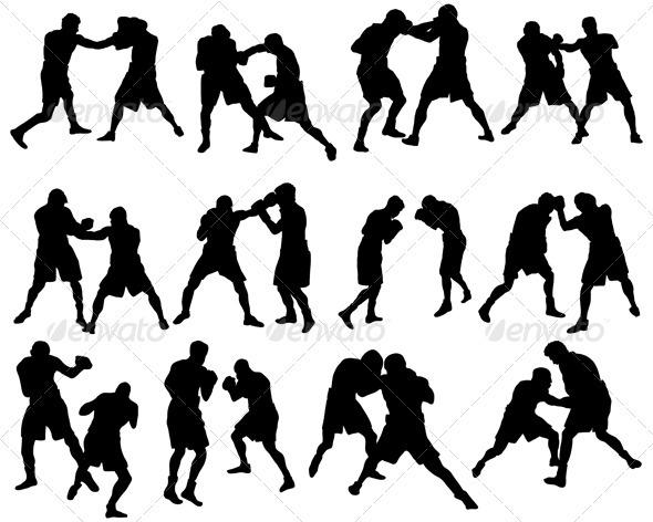 Boxers Silhouette Set - Sports/Activity Conceptual