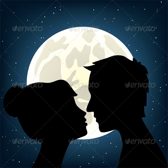 Man and woman kissing - People Characters