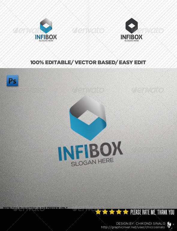 InfiBox Logo Template - 3d Abstract