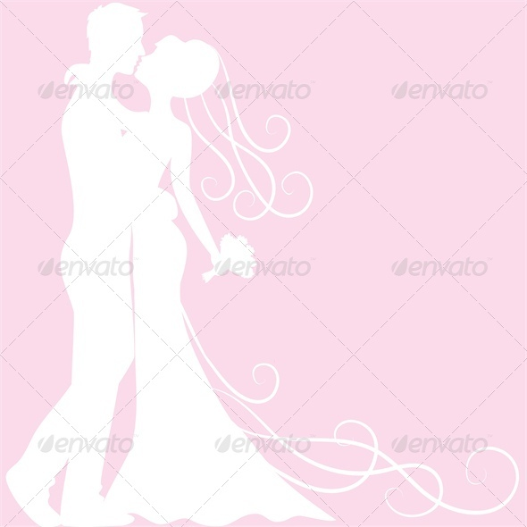bride and groom silhouette - Weddings Seasons/Holidays