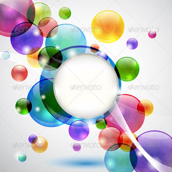 Bubbles Background - Backgrounds Decorative