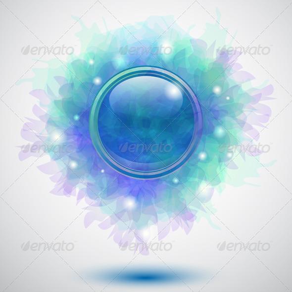 Floral Button - Backgrounds Decorative