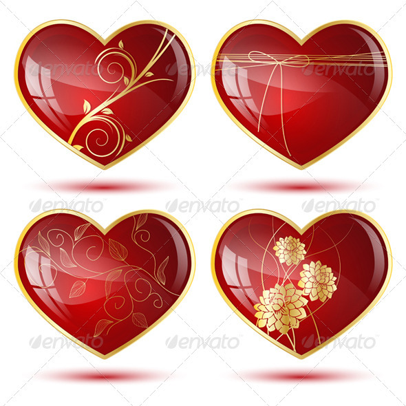 Four Hearts - Valentines Seasons/Holidays