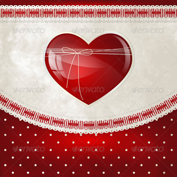 Heart and Bow - Valentines Seasons/Holidays