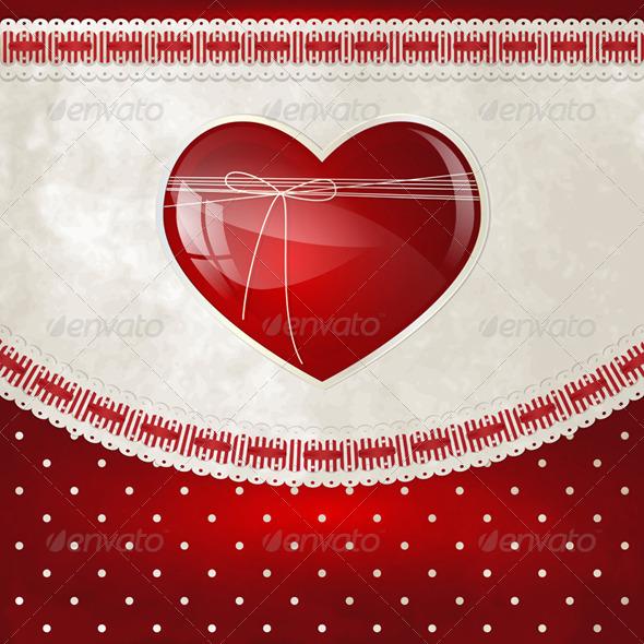 Heart and Bow - Valentines Seasons/Holidays