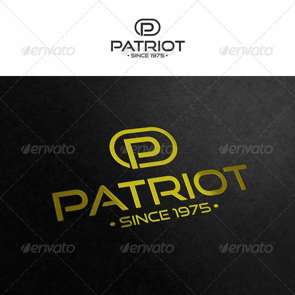 Letter P Logo - Patriot - Letters Logo Templates