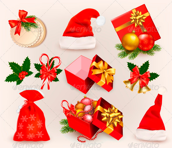 Big Set of Christmas Icons and Objects - Christmas Seasons/Holidays