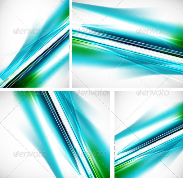 Shiny Blue Backgrounds Pack - Backgrounds Decorative