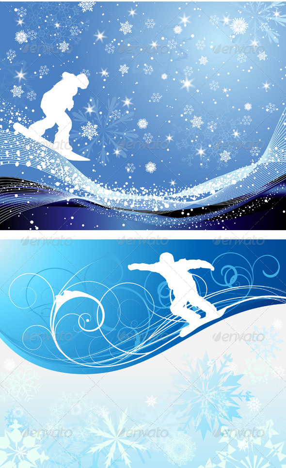 Snowboard Background Set - Sports/Activity Conceptual