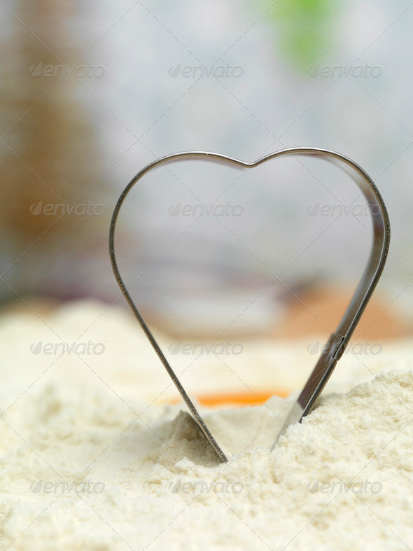 Metal heart gingerbread - Stock Photo - Images