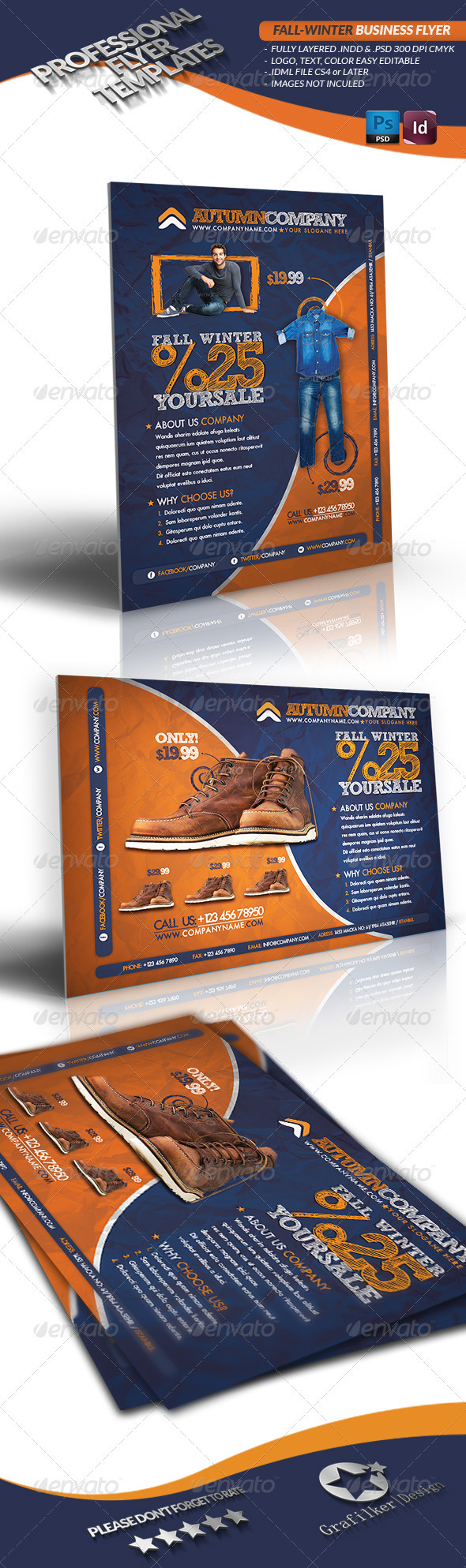 Fall Winter Business Flyer - Corporate Flyers