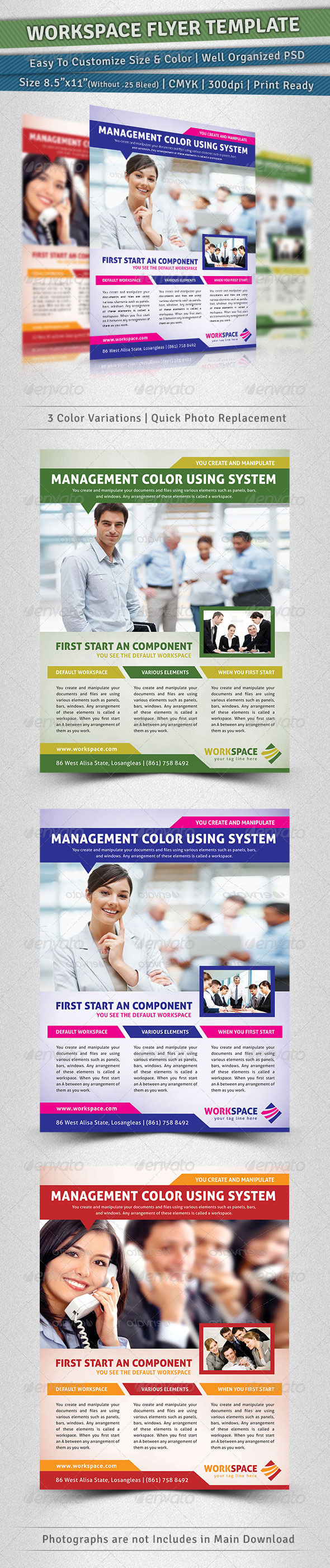 Workspace Flyer Template - Corporate Flyers