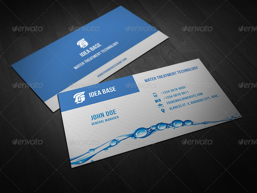 Water Technology Business Card by OWPictures | GraphicRiver