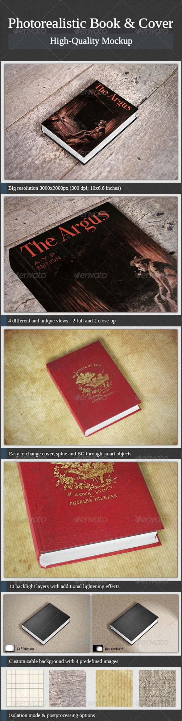 Photorealistic Book and Cover - Books Print