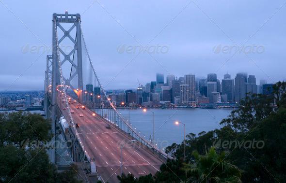 Rush Hour Morning Commute Bay Bridge San Francisco - Stock Photo - Images