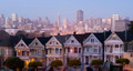San Francisco Downtown Behind Neighborhood Homes Painted Ladies - PhotoDune Item for Sale
