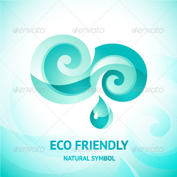 Turquoise Water Symbol - Nature Conceptual