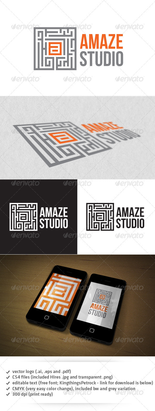 Amaze Studio Logo - Abstract Logo Templates