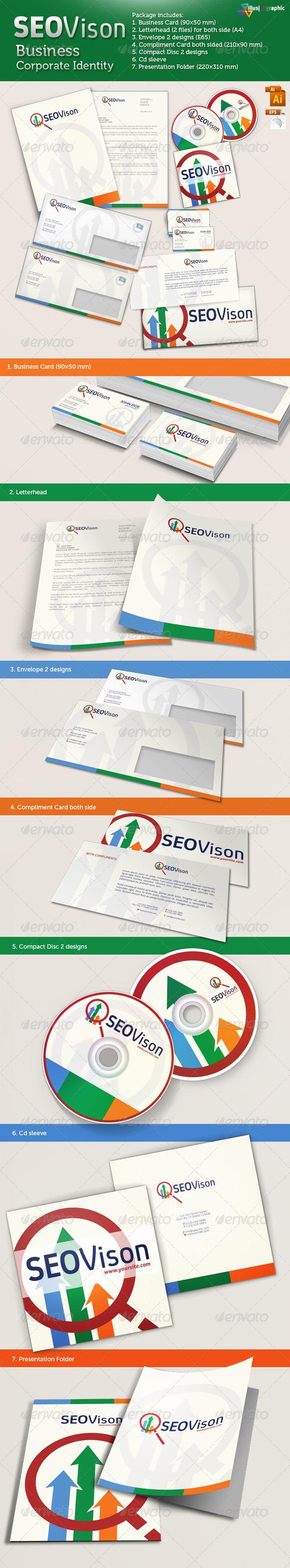 SEOVison - Business Corporate Identity - Stationery Print Templates