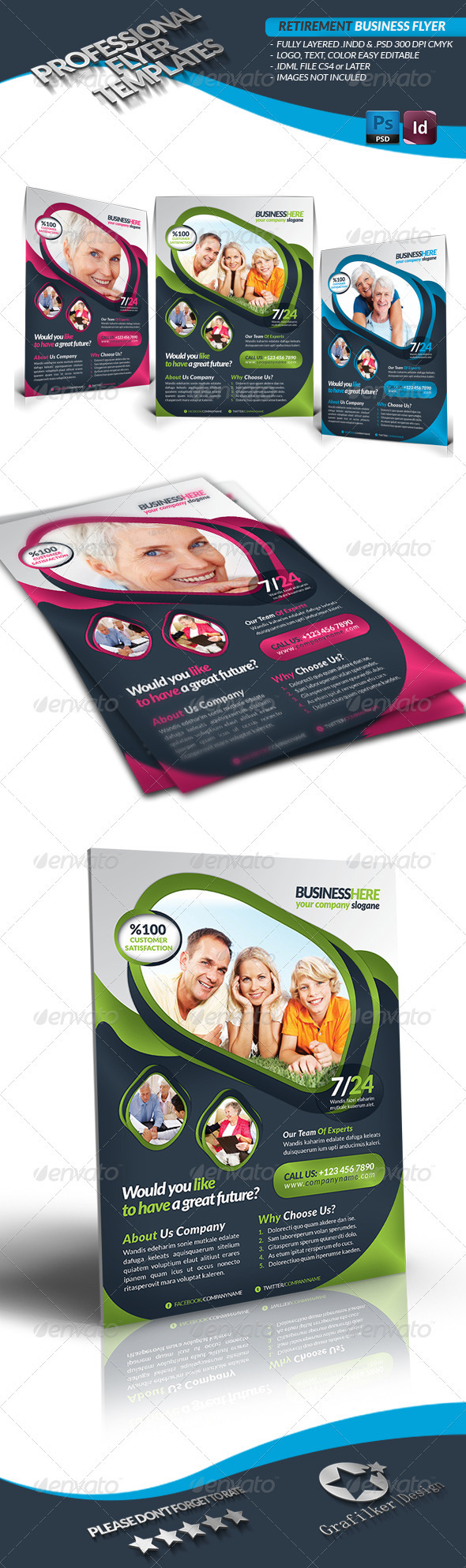 Retirement Business Flyer - Flyers Print Templates