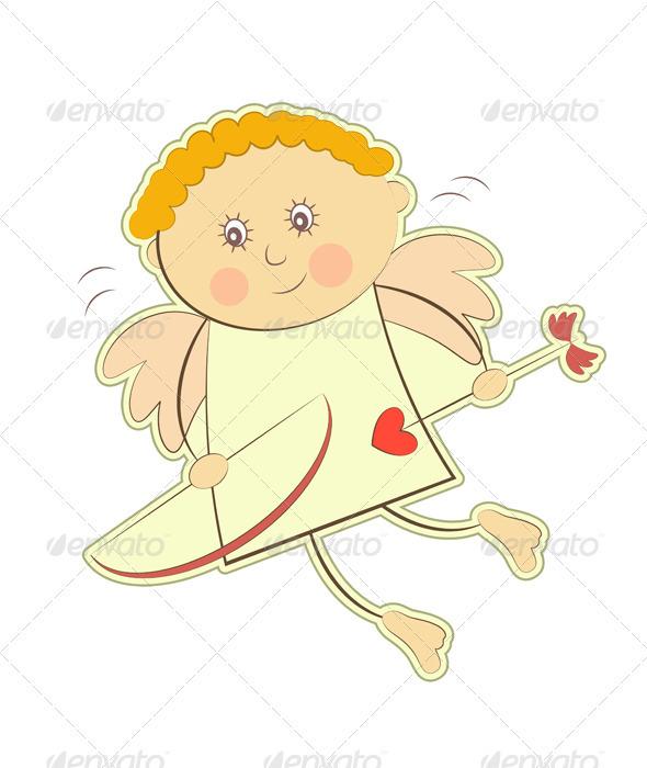 Valentines Cupid Isolated - Valentines Seasons/Holidays