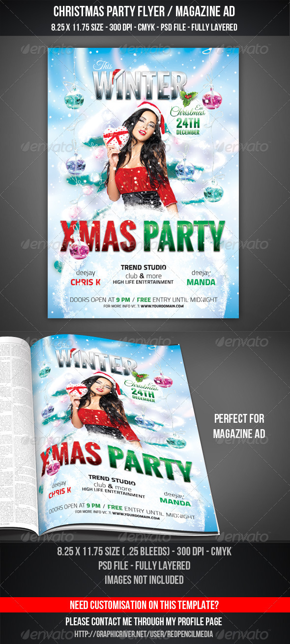 Christmas Party Flyer / Magazine AD - Holidays Events